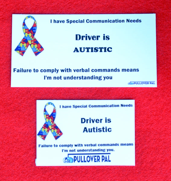 Driver is Autistic Card