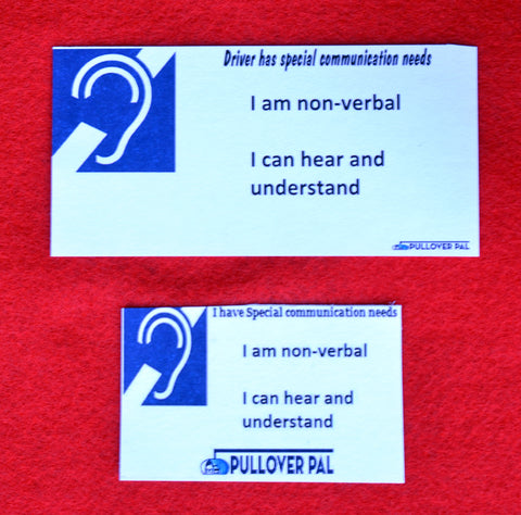 I am Non-Verbal Card (Card Only)