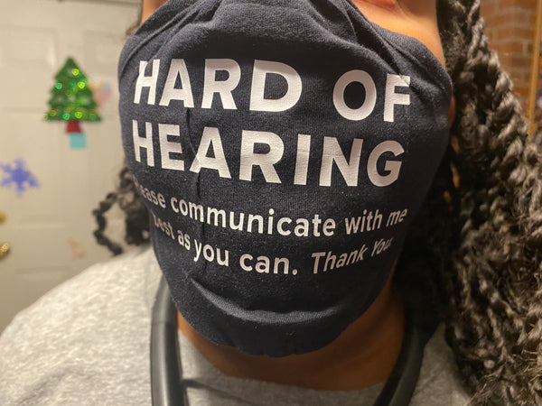 Hard of Hearing (Cloth Face Mask Adult Size)