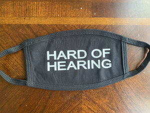 Hard of Hearing (Cloth Face Mask Kids Size)