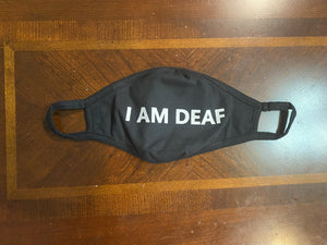 I am Deaf Face Mask (Cloth Face Mask Adult Size Without Wording)