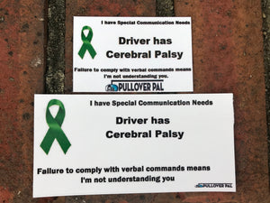 Driver Has Cerebral Palsy