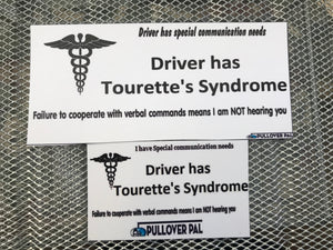 Driver Has Tourette's Syndrome