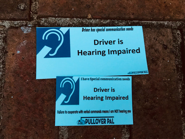 Driver Is Hearing Impaired