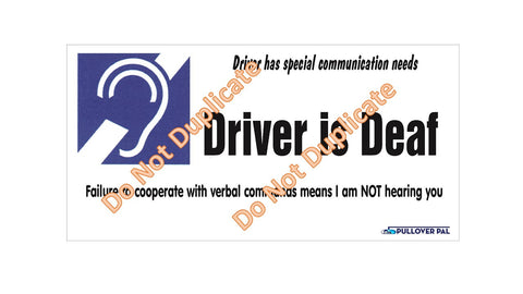 """Driver is Deaf"""