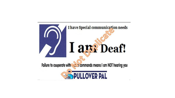 Driver is Deaf Card / I am Deaf Card