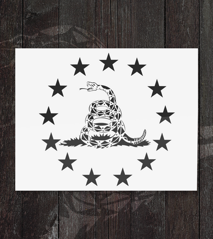 Don't Tread on Me - Decal - Founders Republic LLC
