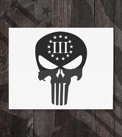 3% Punisher - Decal - Founders Republic LLC