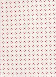 Le Creme Dots C600 80 Red on White
