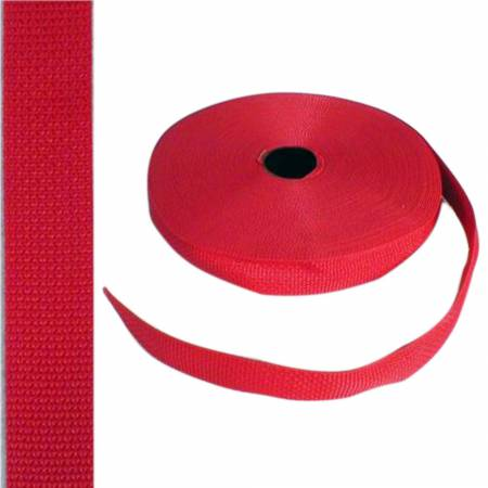 "Polypro Webbing 1"" Red"