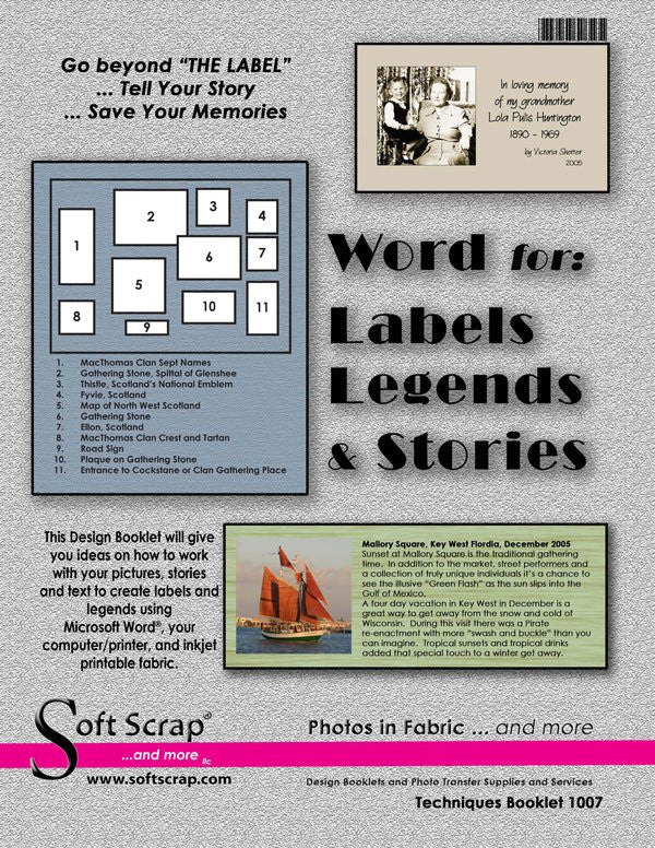 Word for: Labels Legends & Stories