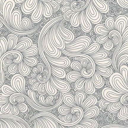 Feather Grey Drawn Wide Backing Fabric Bundle