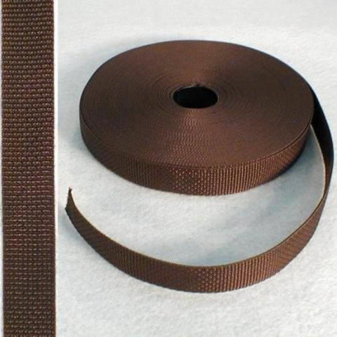 "Polypro Webbing 1"" Brown"