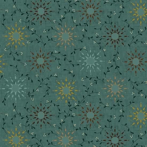 Prairie Vine Backing  by Kim Diehl 6235-11 Teal