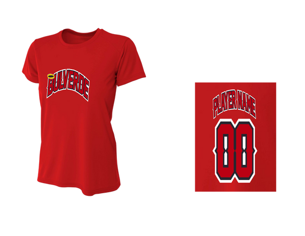 BLL Angels Women's Performance Crew Tee w/ Player Name & Number