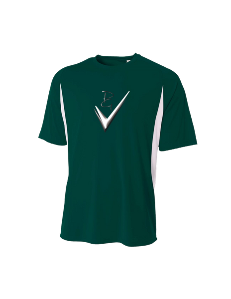Cooling Performance Color Blocked Short Sleeve Crew