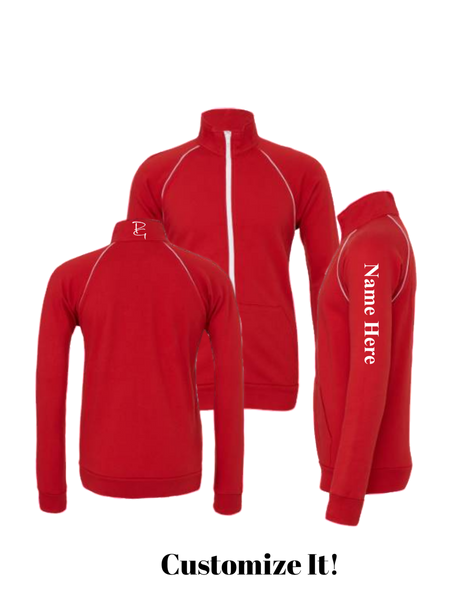 Piped Fleece Jacket - Paragon Graphics, LLC