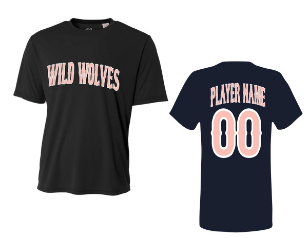 Wild Wolves Men's Performance Crew with Player Name & Number