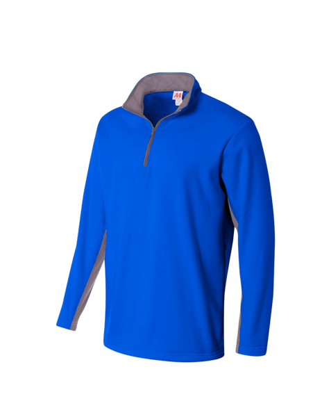 1/4 Zip Color Block Fleece Jacket - Paragon Graphics, LLC