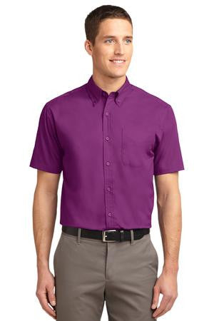 Short Sleeve Easy Care Shirt (XS-XL) Solid Color