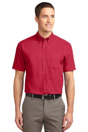 Short Sleeve Easy Care Shirt  w/ Contrast Neckband- (XXL-6XL)