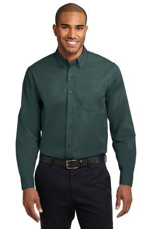 Long Sleeve Easy Care Shirt -Contrast Collar- (XS-XL)