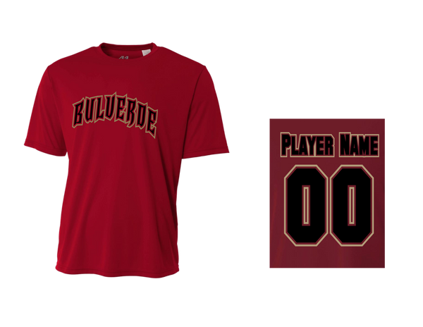 BLL D-Backs Men's Performance Crew Tee w/ Player Names & Numbers