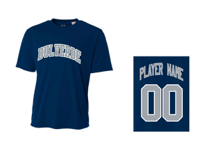 BLL Yankee Men's Performance Crew Tee w/ Player Name & Number