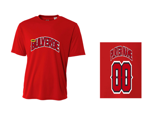BLL Angels Men's Performance Crew Tee w/ Player Name & Number
