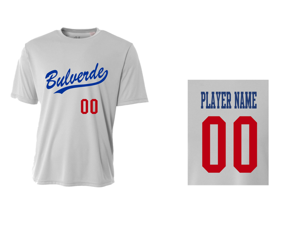 BLL Dodger Men's Performance Crew Tee w/ Player Name & Number
