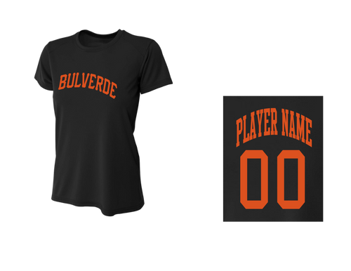 BLL Giants Women's Performance Crew Tee w/ Player Name & Number