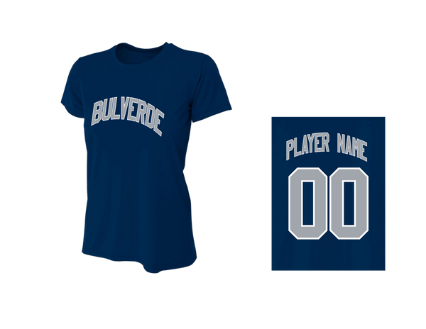 BLL Yankee Women's Performance Crew Tee w/ Player Name & Number