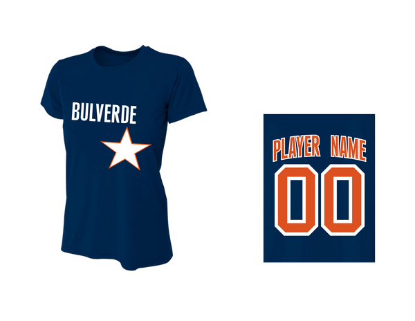 BLL Astro Women's Fan Performance Crew Tee w/ Player Name & Number
