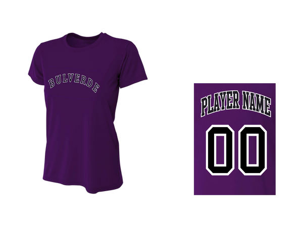 BLL Rockie Women's Performance Crew Tee w/ Player Name & number