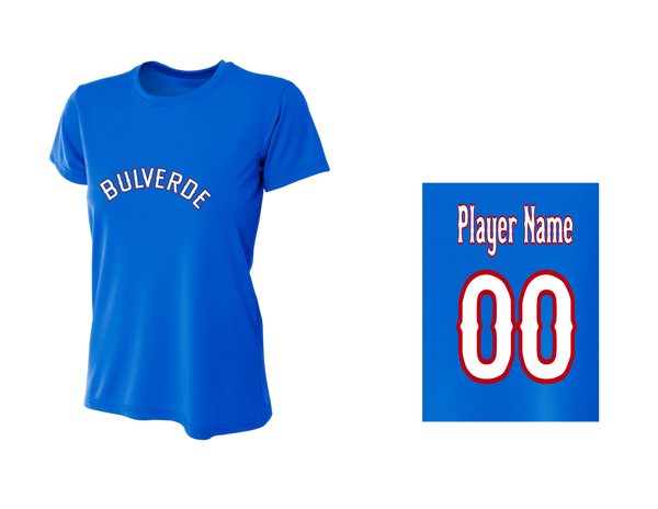 BLL Ranger Women's Performance Crew Tee w/ Player Name & Number