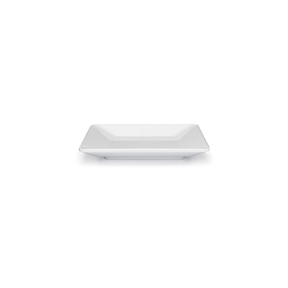 WHITE SQUARE APPETIZER PLATE