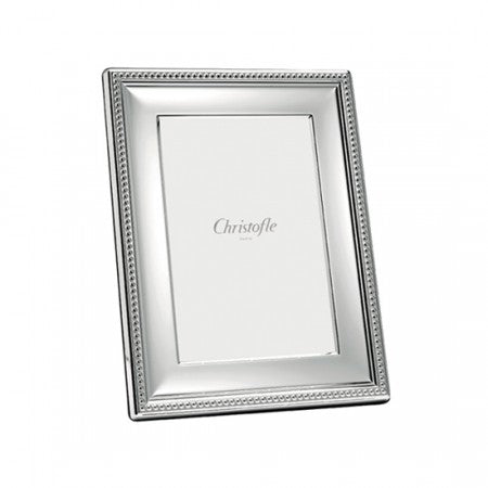 CHRISTOFLE PERLES SILVER PLATED PICTURE FRAMES