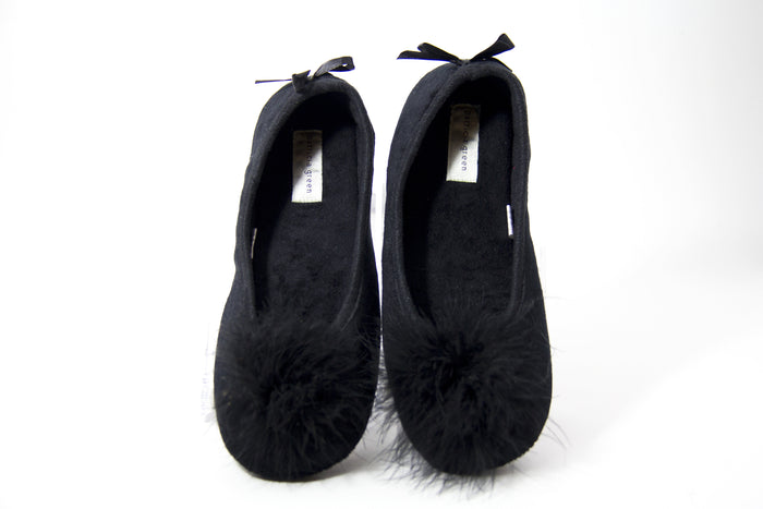 PATRICIA GREEN SLIPPERS LOLA BLACK
