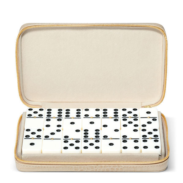 Aerin Collection Enzo Travel Domino Set