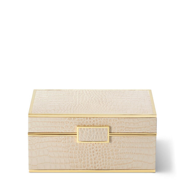 Aerin Classic Croc Jewelry Box in Fawn