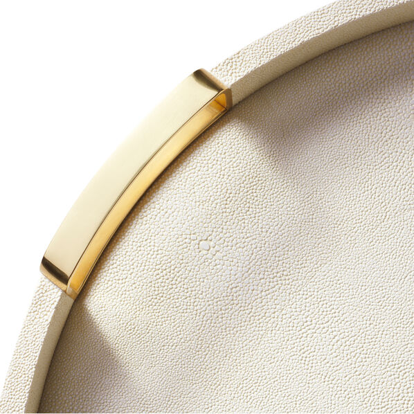Aerin Carina Shagreen Round Tray Available in 2 Sizes and 2 Colors