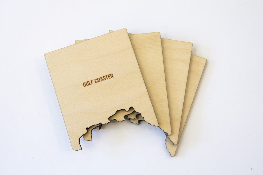 COASTERS MAP - SET OF 4