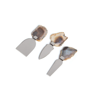 Agate Handle Cheese Knives