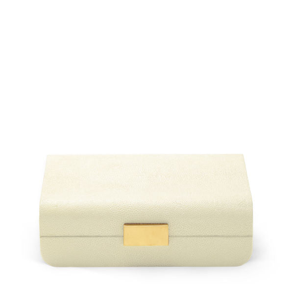Aerin Small Modern Shagreen Jewelry Box