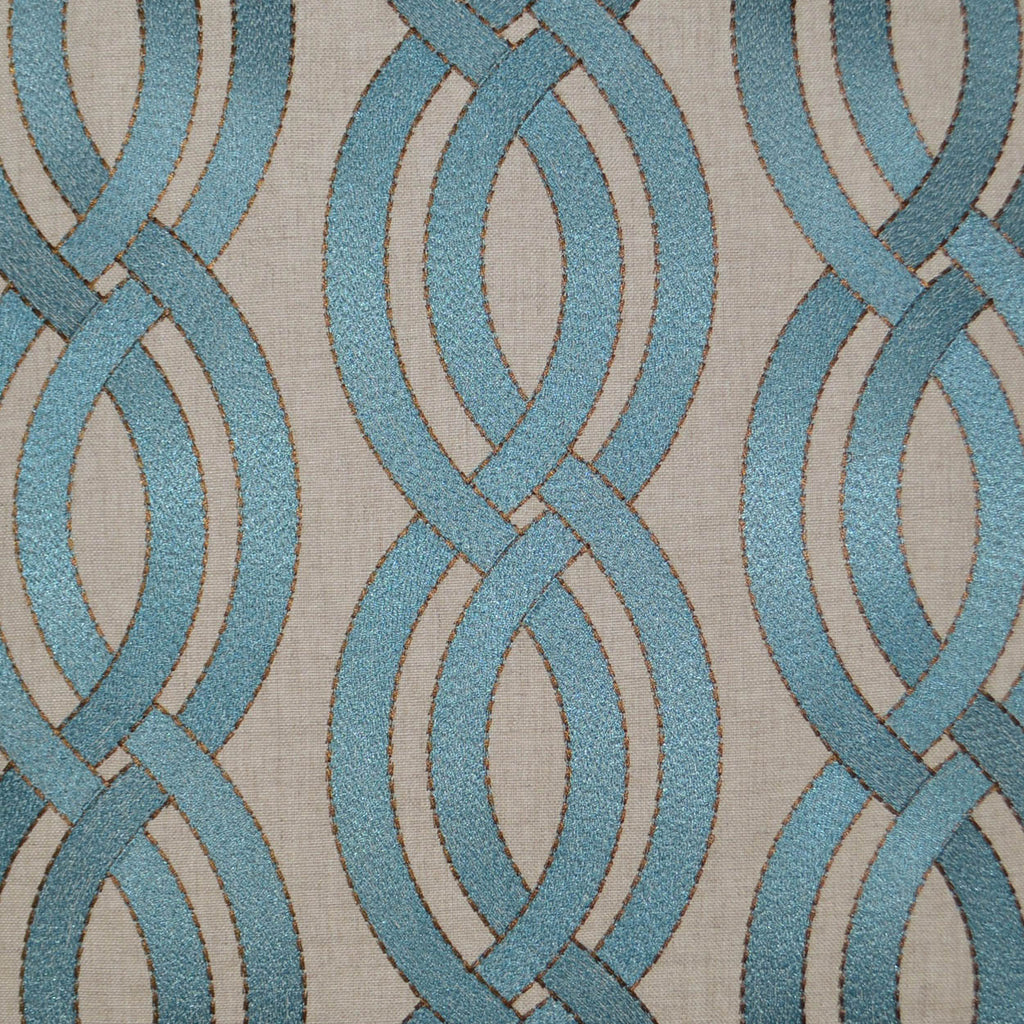 DECORATIVE PILLOW - WINDING PATH / Blue