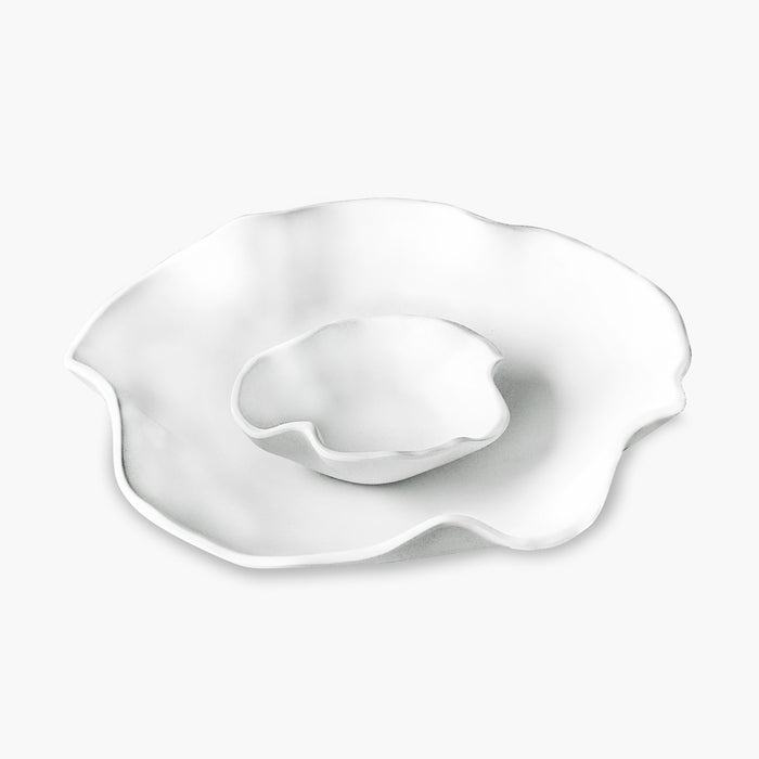Melamine White Chip Bowl