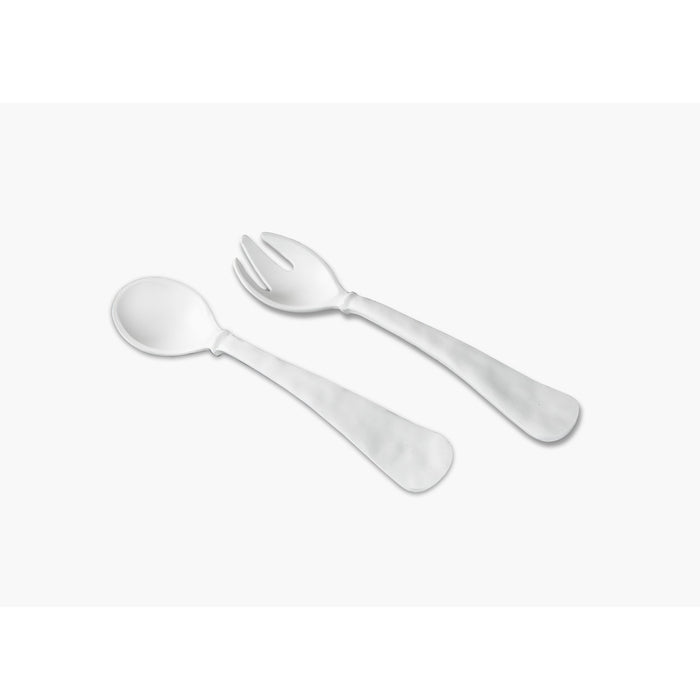 Melamine White Salad Servers
