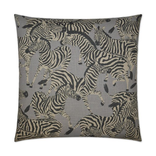 DECORATIVE PILLOW GREY HERD TOGETHER