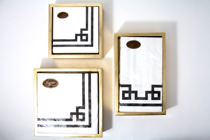 Gold Lacquer NAPKIN HOLDERs   Available in  3 Sizes