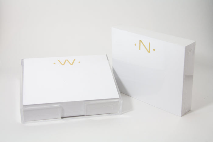 Black Ink Stationery Initial Luxe Foil Pad